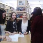 Beseda pro žáky 8. ročníků - historie knihovny, MDT, znalostní kvíz - květen 2016